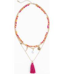 collana a più fili (oro) - rainbow