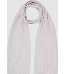 reiss tobias - cashmere ribbed scarf in arctic mist, mens