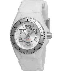 reloj technomarine tm-115124 blanco silicona