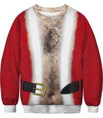 christmas buckle print sweatshirt