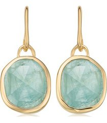 siren aquamarine wire earrings, gold vermeil on silver