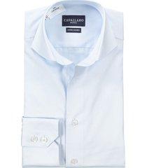 cavallaro mouwlengte 7 shirt sky blue classic plain