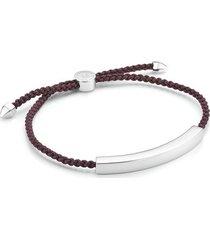 sterling silver linear large men's friendship bracelet
