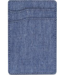bespoke men's chambray adhesive card case