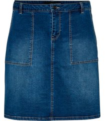 jeanskjol jrfivemuuta above knee denim skirt