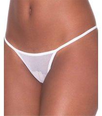 calcinha click chique biquíni sexy tirinha branco - kanui