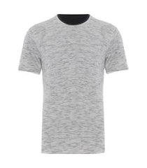 camiseta masculina double leve - cinza