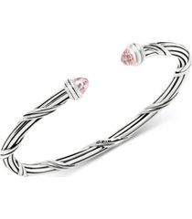 peter thomas roth rose quartz cuff bracelet (2-1/3 ct. t.w.) in sterling silver