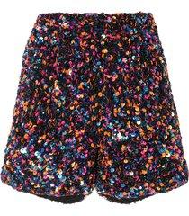 manish arora sequinned shorts - black