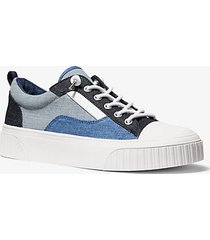 mk sneaker oscar in denim - denim (blu) - michael kors