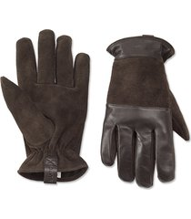 rugged leather/suede gloves, x large