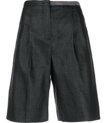 fabiana filippi beaded bermuda shorts - black