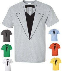tuxedo tux wedding funny gift groom college party men's tee shirt