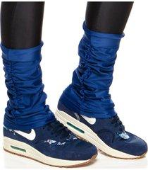 meias performance mulher elastica polaina fitness microfibra - azul escuro - u azul