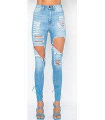 akira brand new house high rise distressed skinny jeans
