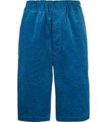 comme des garçons shirt corduroy chino shorts - blue