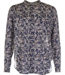 isabel marant blouse mexika blauw