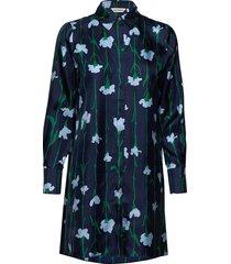 tyyri viivakukka tunic knälång klänning grön marimekko