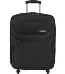maleta de viaje mediana negro runner - explora