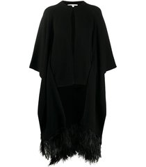 feather trim cape