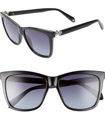 women's polaroid 56mm polarized cat eye sunglasses -