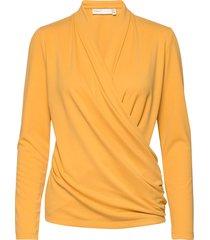 alanoiw wrap blouse blouse lange mouwen geel inwear