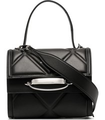 alexander mcqueen diamond-quilt tote bag - black