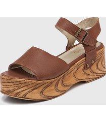 sandalia de cuero suela viamo miza