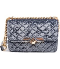 like dreams quilted velvet wallet crossbody