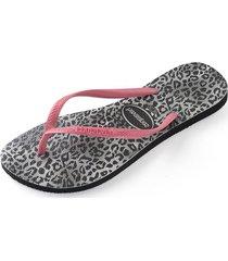sandalias slim leopard negro havaianas