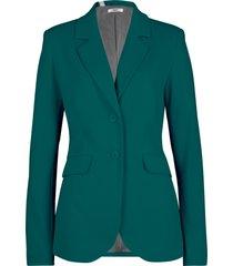 blazer sciancrato in jersey di cotone (petrolio) - bpc bonprix collection