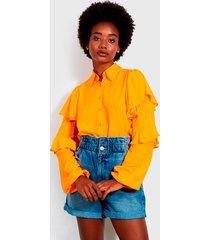 blusa colcci amarillo - calce regular
