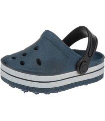 babuche infantil sandália minipasso azul