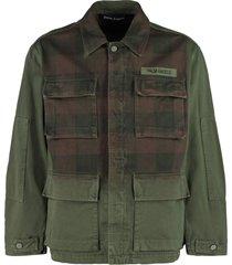 palm angels multi-pocket cotton jacket