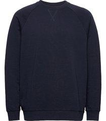 sweatshirts sweat-shirt tröja blå edc by esprit