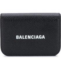 balenciaga cash mini wallet - black