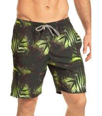 pantaloneta verano silueta larga hawai para hombre-verde