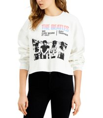 junk food the beatles cotton cropped sweatshirt