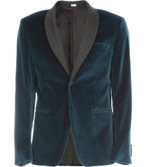 velvet smoking jacket w/scialle neck