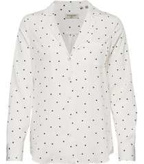 blair revere collar blouse blus långärmad vit superdry