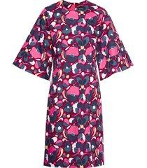 ennus pilvipuutarha dress jurk knielengte roze marimekko