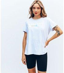camiseta amplia corta manga corta famosa
