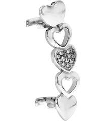 bodifine stainless steel heart ear cuff