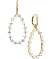 nadri cubic zirconia teardrop earrings in gold at nordstrom