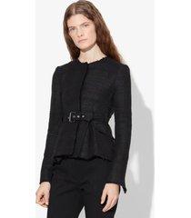 proenza schouler tweed belted jacket black 4