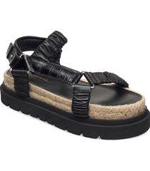 noa - strappy platform slide shoes summer shoes flat sandals svart 3.1 phillip lim