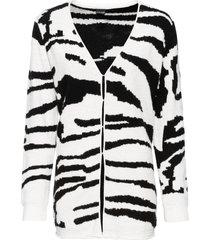 cardigan lungo zebrato (nero) - bodyflirt