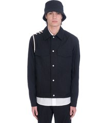 craig green casual jacket in black cotton
