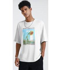 camiseta de hombre con estampado de paisaje de girasol