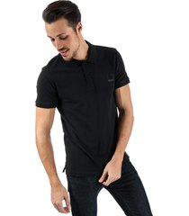 bench mens classic cotton polo shirt size xl in black
